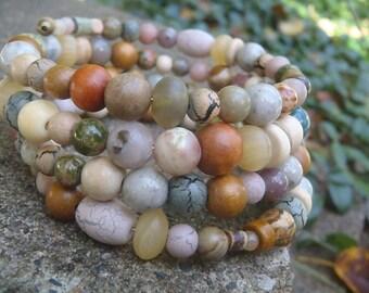 the beach memory wire bracelet