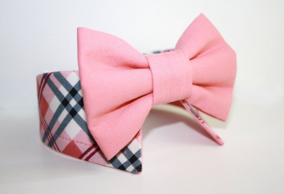 Dog shirt collar and bow tie- Pick your combo