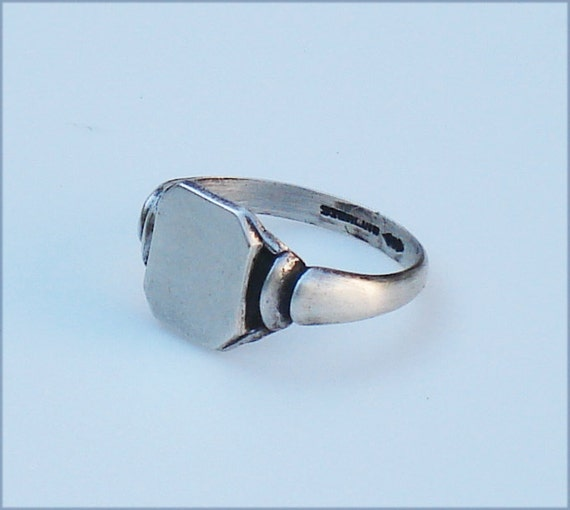 Art Deco Sterling SIlver Signet Ring - Clark & Coombs