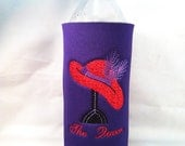 Red Hat Society Themed Water Bottle Custom Embroidered Koozies 1 (One)
