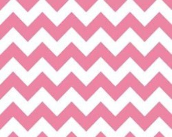 Riley Blake Medium Chevron Fabric in Hot Pink -- 1 yard