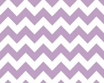 Riley Blake Medium Chevron Fabric in Lavender -- 1 yard