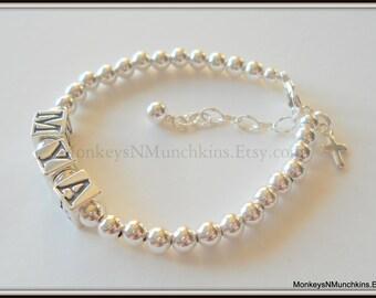 Baby Baptism Bracelet All Sterling Silver B030