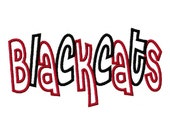 Blackcats 2 color Embroidery Machine Applique Design 2761