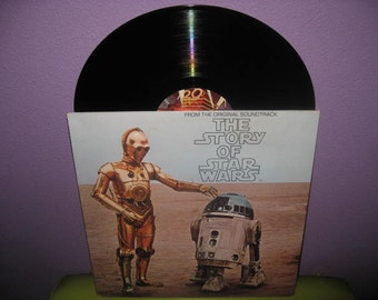 SHOP CLOSING SALE Vinyl Record Album The Story of Star Wars Booklet & Music Lp 1977 Sci Fi Classic