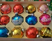 Vintage Mercury Glass Shiny Brite Christmas ornament bulbs 18 total, flocked, painted etc.