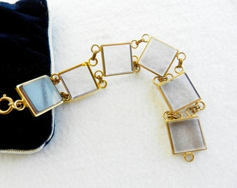 Gorgeous Deco bracelet vintage Italian 1960 - transparency and gold, a spectacular jewel--Art.40 / 2 -