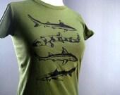Sharks T Shirt Women's Organic