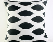 18X18 Charcoal Ikat Pillow Cover