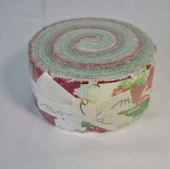 "Blitzen by BasicGrey for Moda Jelly Roll 100% Cotton  - Pack of 40 -  21/2"" strips"