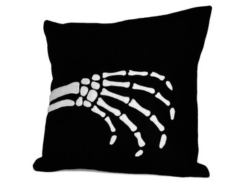 Halloween Skeleton Hand Pillow