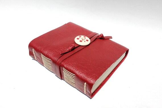 "Handmade Leather Journal 4 1/2"" x 5"" 140 lb Watercolor Paper - Sketchbook"