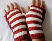 Candy Cane Gloves Pattern