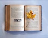 Yellow Fabric Maple Leaf Bookmark Fall Decor