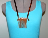 Funky Boho Fringed Aztec Southwestern Necklace