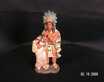 Ceramic Hiawatha's Wedding Statue