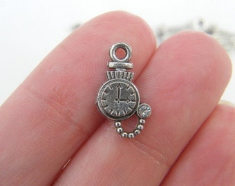 16 Pocket watch charms antique silver tone P195