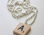 Scrabble necklace - many letters available