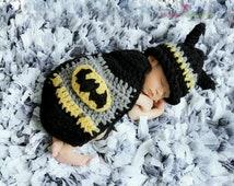 Baby boy hat, baby girl hat, crochet batman cape, photo prop, batman, baby shower gift, super hero nursery, crochet newborn hat