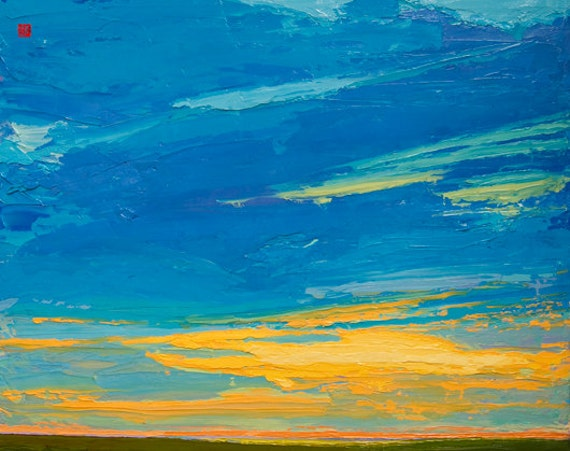 Open Edition Print - Summer Sundown - 8 X 10 - landscape