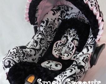 Custom Boutique Isabella Infant Car Seat Cover 5 piece set
