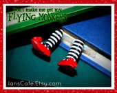 FLYING MONKEY Bookmark - Wicked Witch Legs Bookmark Design - Great Gift for Wizard of Oz Lover - Stocking Stuffer