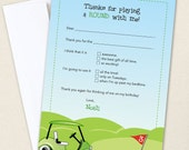 Golf Thank You Cards - Professionally printed *or* DIY printable