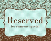 Reserved Listing for ollyg105