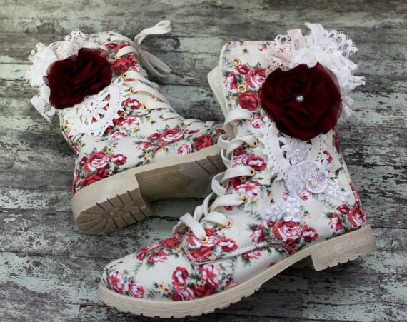 Womens Boots Shabby Shoes Embellished Boho Chic Reserved