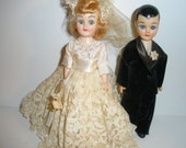 Vintage Bride and Groom Sleepy Eye Dolls- 1950/1960
