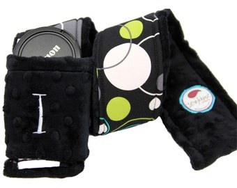 Personalized Camera Strap Cover Set in Fabric of your choice