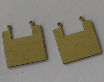 RESERVED FOR R Larger Raw Brass Geometric Shape 44 pieces