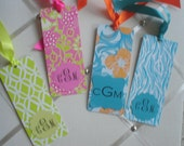 LILLY FANS  Personalized Bookmark with Placard monogram