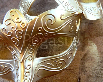 Matte GOLD classic mask (2 package option)(M2) Ballroom masquerade mask for a Mardi Gras, Halloween,Wedding,Prom,New Years