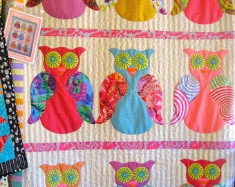 9 Wise Owls Quilt Pattern