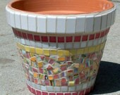 Lantana Mosaic Flower Pot Planter  MOO7016