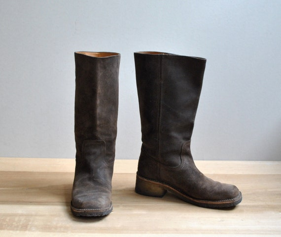 Vintage Frye Suede Boots, Women's Size 8.5