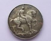 WWI British War Medal Sterling Silver