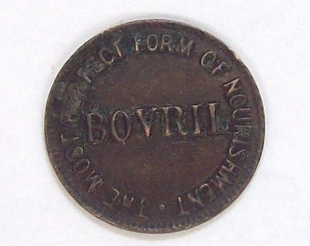 Late Victorian Bovril Advertising Token