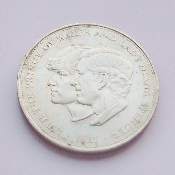Princess Diana Prince Charles Wedding Coin 1981
