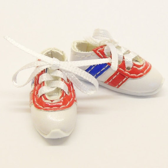 White Adidas Style Sneakers for BJD Dolls Lati Yellow, PukiFee, Dollk S00058A