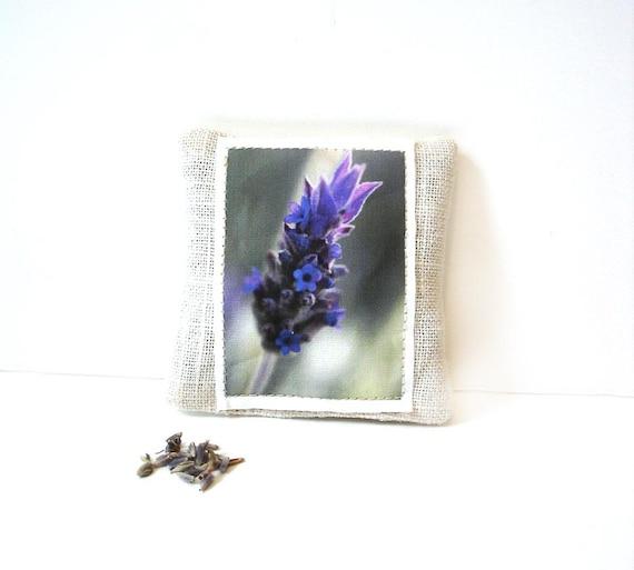 Organic lavender sachet, nature sachet, drawer freshener, gift for her, gift under 5, flower herb sachet, linen lavender, teacher gift