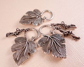 Silver Toggle Clasp Leaf Clasp Silver  Findings Silver Clasp Silver Leaf Clasp Metal Beads Leaf Beads