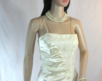 80's WEDDING DRESS by Pantel of Montreal Canada Prom Size XS S
