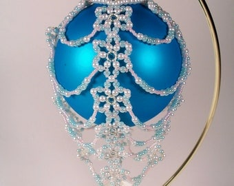 Hot Air Balloon Ornament No. 9, Beading Tutorial in PDF