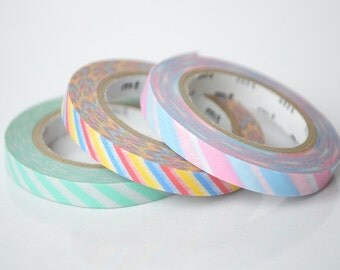 mt 2012 - Japanese Washi Masking Tapes / 6mm Slim Twist Cord A set of 3