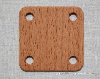 Weaving cards 5x5cm - 24 - Beech - Tablet weaving - Card weaving - Inkle loom weaving - Ancient medieval viking art medieval weaving SCA