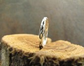 Skinny Half Round Braided Stacking ring