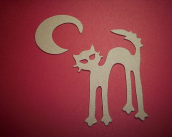 Cat and Moon Die Cuts Set of 4