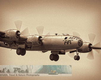 WWII Airplane, FIFI, B-29 Superfortress, 8x12 Fine Art Photograph (g4332), Vintage Airplane Photograph